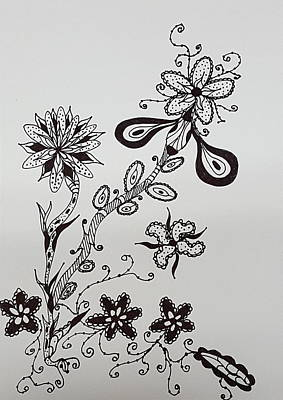 Drawing - Flower 8 by Steven Stutz