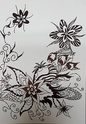 Drawing - Flower 9 by Steven Stutz