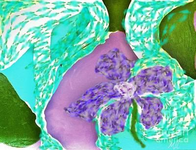Shower Digital Art - Flower Abstract Fantasy by Marsha Heiken
