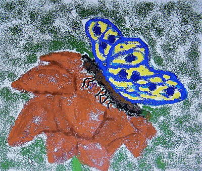 Wall Art - Digital Art - Flower And Butterfly by Cybele Chaves