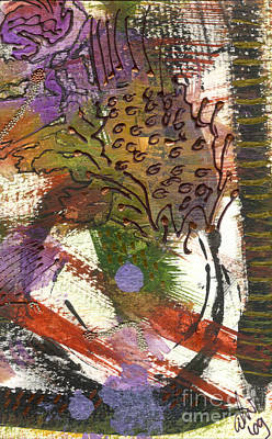 Mixed Media - Flower And Leaves II by Angela L Walker