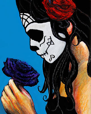 Painting - Flower And Skull by Frank Botello