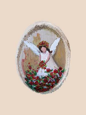 Painting - Flower Angel by Vesna Martinjak