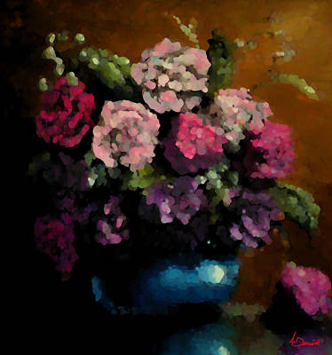 Flower Arrangement Art Print by Ahmed Darwish