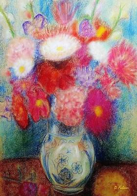 Drawing - Flower Arrangement by Denise Fulmer