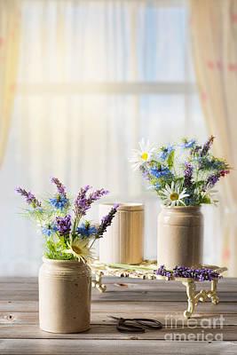 Net Photograph - Flower Arrangements by Amanda Elwell