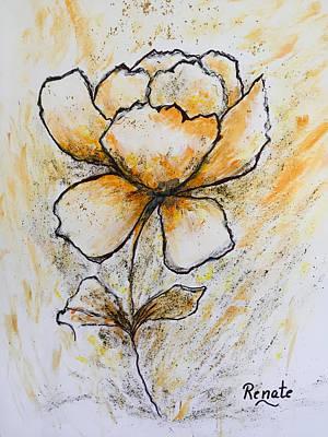 Painting - Flower-art by Renate Dartois