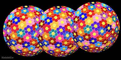 Homemade Quilts Photograph - Flower Balls by LeeAnn McLaneGoetz McLaneGoetzStudioLLCcom