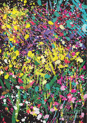Painting - Flower Bed Abstract by Go Van Kampen