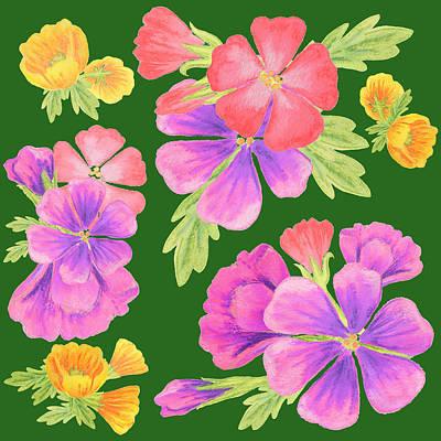 Flower Bed Design Art Print by Irina Sztukowski