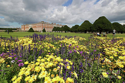 Flower Bed Hampton Court Palace Art Print