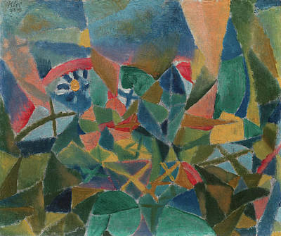 Switzerland Painting - Flower Bed by Paul Klee