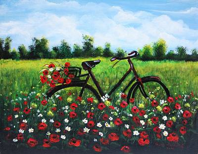 Painting - Flower Bike by Vesna Martinjak