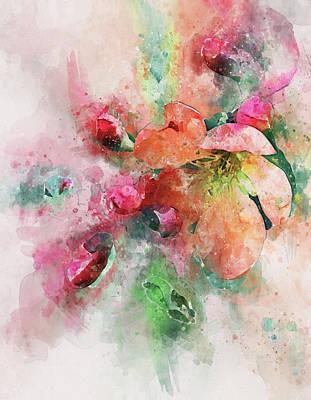 Digital Art - Flower Blow by Yury Malkov