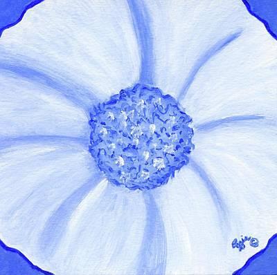 Painting - Flower Blue Power by Stephanie Agliano