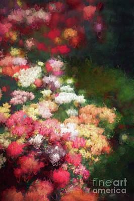 Mixed Media - Flower Border by Helen White