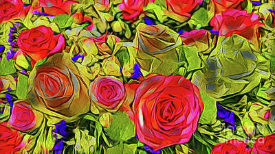 Photograph - Flower Bouquet 20518 by Ray Shrewsberry
