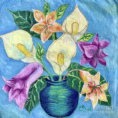 Painting - Flower Bouquet by Caroline Street