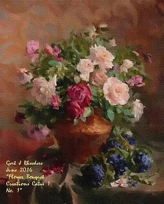 Kitchen Signs - Flower Bouquet Creations Catus 1 No. 1. P A by Gert J Rheeders