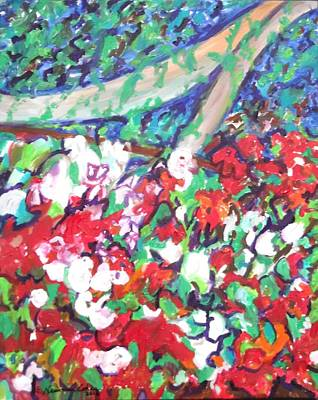 Painting - Flower Bower by Esther Newman-Cohen
