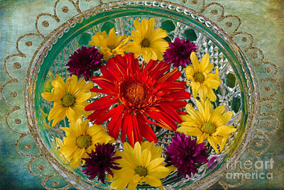 Photograph - Flower Bowl Beckoning by Nina Silver