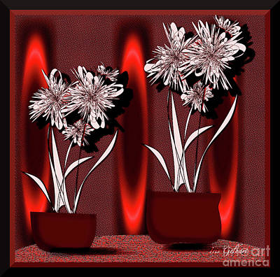 Digital Art - Flower Bowl by Iris Gelbart