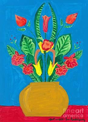 Painting - Flower Bowl by Margie-Lee Rodriguez