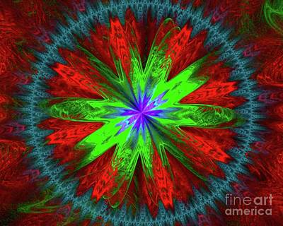 Science Fiction Royalty-Free and Rights-Managed Images - Flower Burst by Raphael Terra