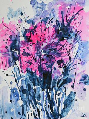 Painting - Flower Burst by Zaira Dzhaubaeva