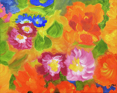 Painting - Flower Bursts by Meryl Goudey