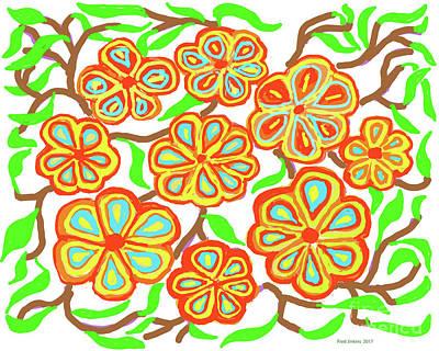Digital Art - Flower Carnival by Fred Jinkins