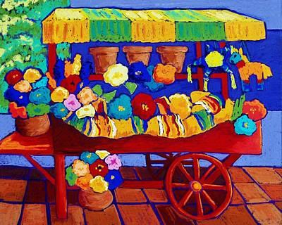 Flower Cart Art Print by Candy Mayer