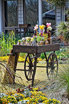 Photograph - Flower Cart by Linda Brown