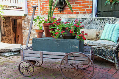 Photograph - Flower Cart by Steve Stuller