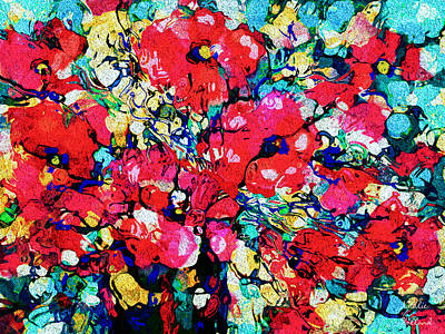Mixed Media - Flower Celebration by Natalie Holland
