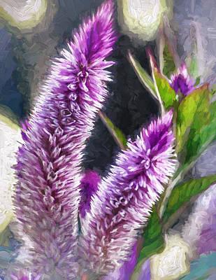 Loom Digital Art - Flower - Purple Celosia - Purple Plumes by Black Brook Photography