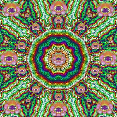 Chakra Rainbow Mixed Media - Flower Chakra Of Healing Floral by Pepita Selles