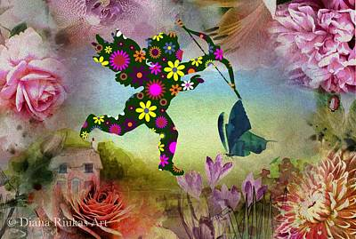 Digital Art - Flower Cherub by Diana Riukas