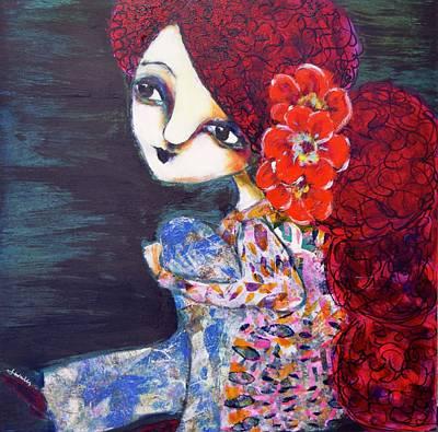 Mixed Media - Flower Child by Jen Walls