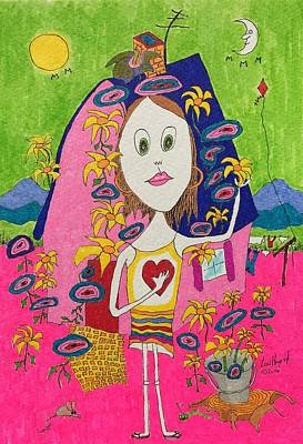 Painting - Flower Child by Lew Hagood
