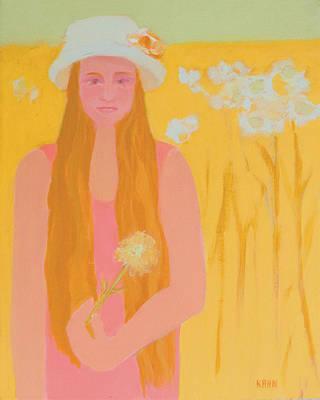 Flower Child Art Print by Renee Kahn