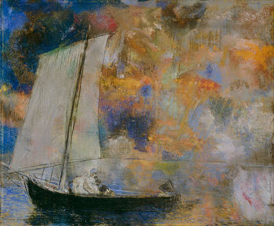 Painting - Flower Clouds by Odilon Redon