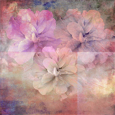 Digital Art - Flower Collage by M Montoya Alicea