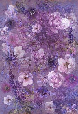 Flower Collage Art Print by Maren Schram