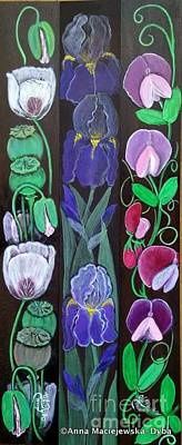Folkartanna Painting - Flower Composition 2 by Anna Folkartanna Maciejewska-Dyba
