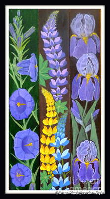 Folkartanna Painting - Flower Composition 3 by Anna Folkartanna Maciejewska-Dyba