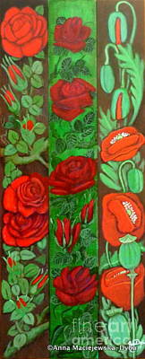 Folkartanna Painting - Flower Composition 4 by Anna Folkartanna Maciejewska-Dyba