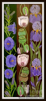 Folkartanna Painting - Flower Composition 5 by Anna Folkartanna Maciejewska-Dyba