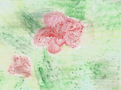 Pastel - Flower Composition by Corinne Elizabeth Cowherd