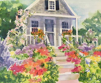 Painting - Flower Cottage by Liana Yarckin
